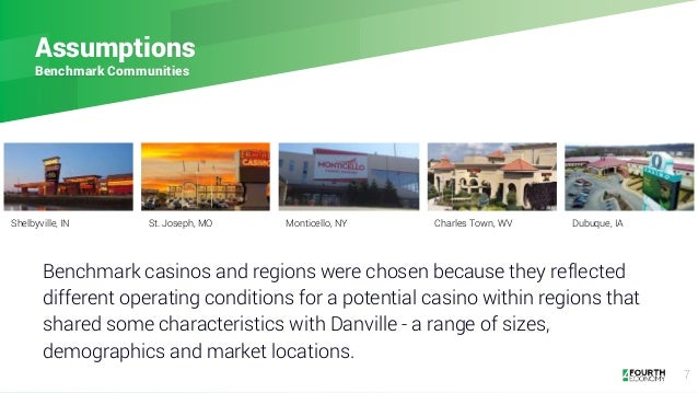 7 Assumptions Benchmark Communities Benchmark casinos and regions were chosen because they reflected different operating c...