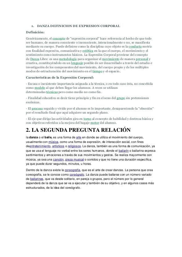 7bf5728cd70a DANZA DEFINICION DE EXPRESION CORPORALDefinición:Genéricamente, el concepto  de