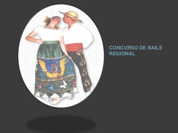 CONCURSO DE BAILE REGIONAL <br />