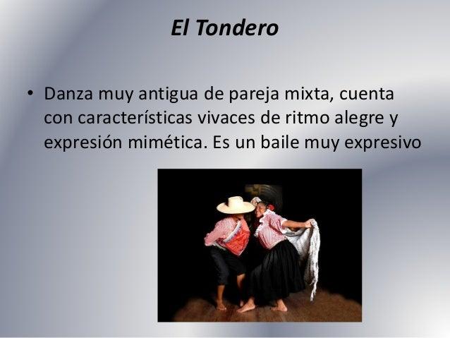 La Marinera Norteña • Danza de pareja libre identificada a nivel nacional por sus características propias.