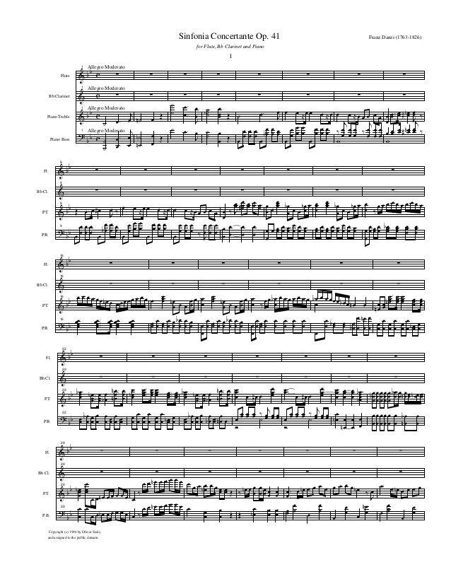 & & & ? bb bb bb c c c c Flute Bb Clarinet Piano Treble Piano Bass Allegro Moderato Allegro Moderato Allegro Moderato Alle...
