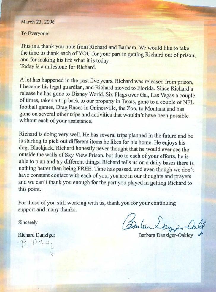 Danzinger letter