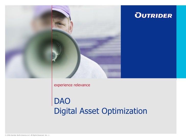 DAO Digital Asset Optimization