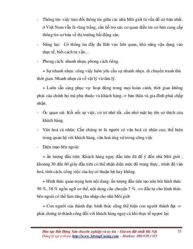 11Đào tạo Bất Động Sản chuyên nghiệp và uy tín – Giá ưu đãi nhất Hà Nội Đăng kí tại website http://www.StrongCuong.com – H...
