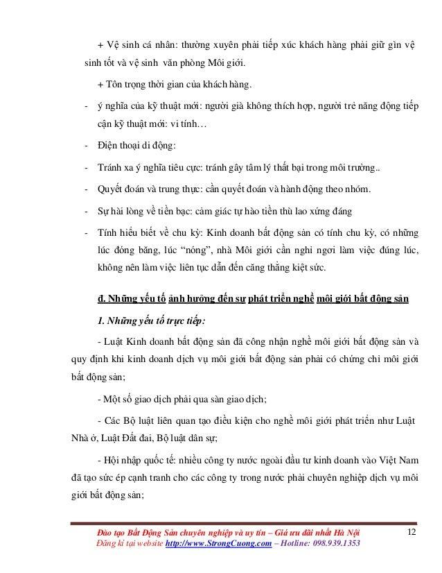 12Đào tạo Bất Động Sản chuyên nghiệp và uy tín – Giá ưu đãi nhất Hà Nội Đăng kí tại website http://www.StrongCuong.com – H...