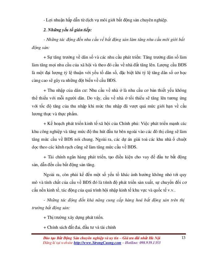 13Đào tạo Bất Động Sản chuyên nghiệp và uy tín – Giá ưu đãi nhất Hà Nội Đăng kí tại website http://www.StrongCuong.com – H...