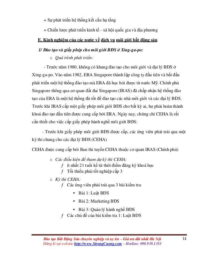 14Đào tạo Bất Động Sản chuyên nghiệp và uy tín – Giá ưu đãi nhất Hà Nội Đăng kí tại website http://www.StrongCuong.com – H...