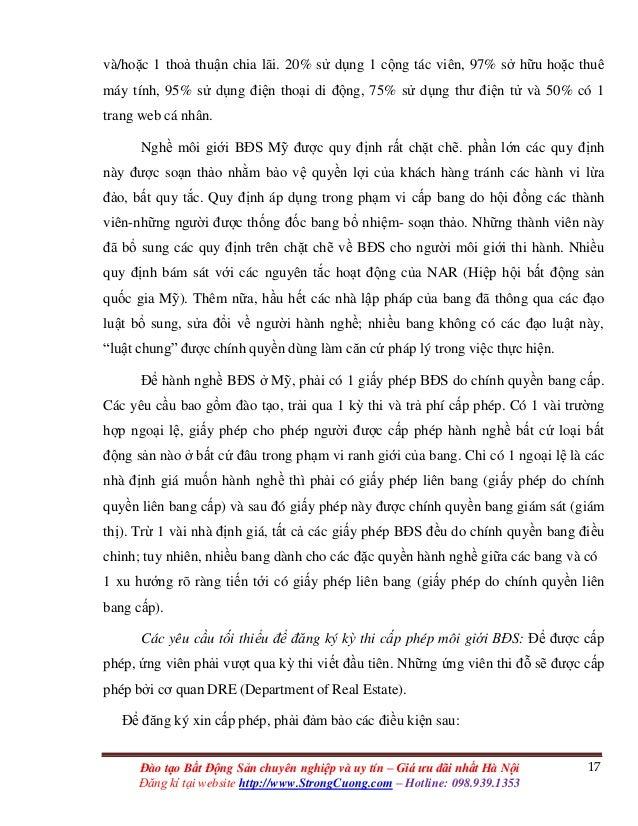 17Đào tạo Bất Động Sản chuyên nghiệp và uy tín – Giá ưu đãi nhất Hà Nội Đăng kí tại website http://www.StrongCuong.com – H...