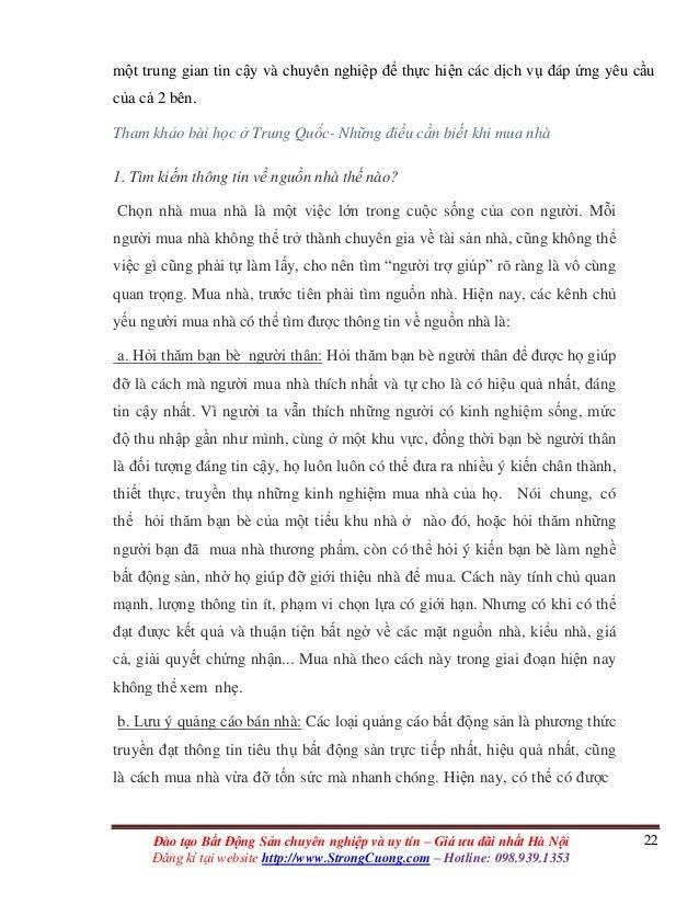 22Đào tạo Bất Động Sản chuyên nghiệp và uy tín – Giá ưu đãi nhất Hà Nội Đăng kí tại website http://www.StrongCuong.com – H...