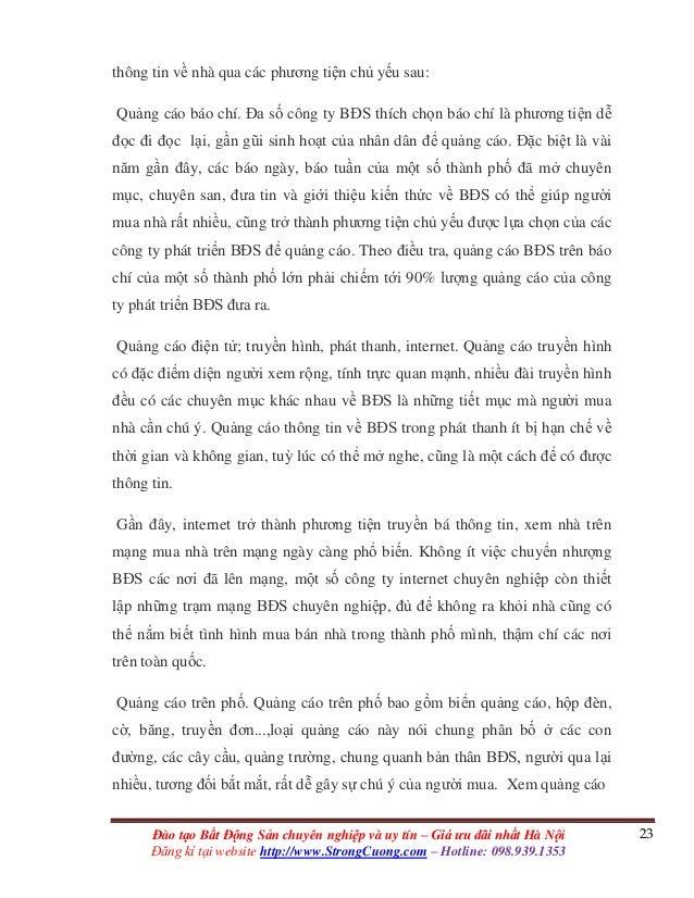 23Đào tạo Bất Động Sản chuyên nghiệp và uy tín – Giá ưu đãi nhất Hà Nội Đăng kí tại website http://www.StrongCuong.com – H...