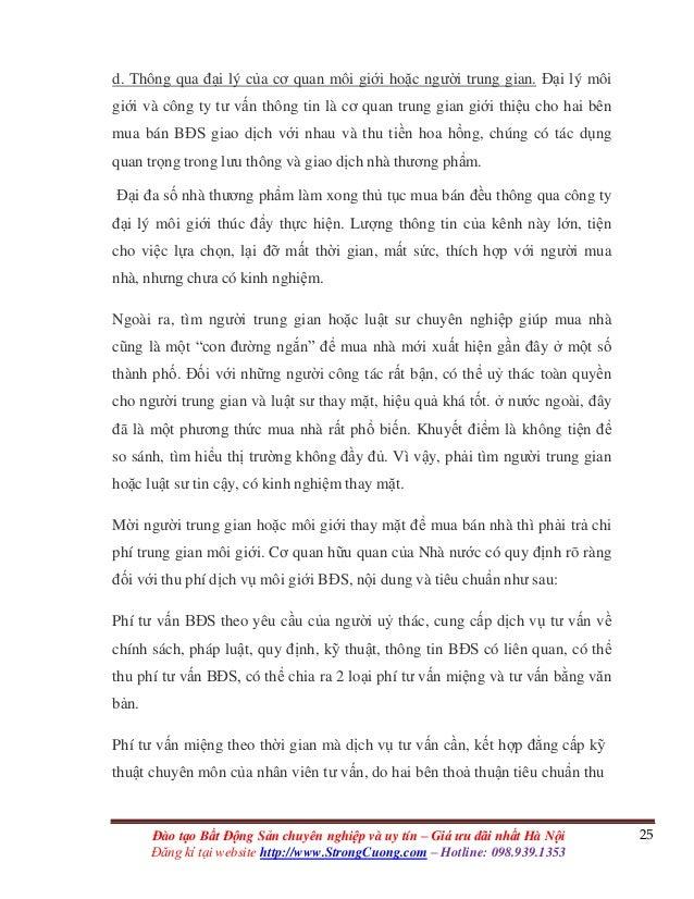 25Đào tạo Bất Động Sản chuyên nghiệp và uy tín – Giá ưu đãi nhất Hà Nội Đăng kí tại website http://www.StrongCuong.com – H...