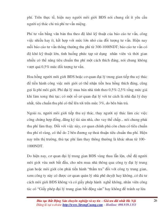 26Đào tạo Bất Động Sản chuyên nghiệp và uy tín – Giá ưu đãi nhất Hà Nội Đăng kí tại website http://www.StrongCuong.com – H...