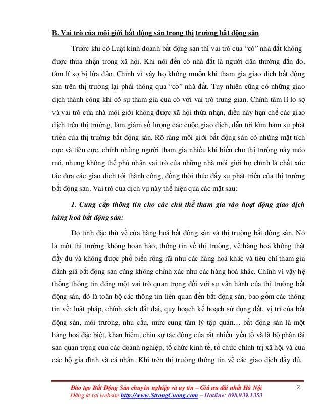 2Đào tạo Bất Động Sản chuyên nghiệp và uy tín – Giá ưu đãi nhất Hà Nội Đăng kí tại website http://www.StrongCuong.com – Ho...
