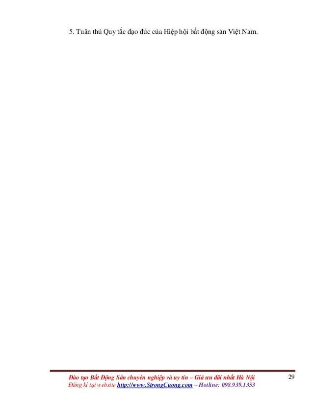 29Đào tạo Bất Động Sản chuyên nghiệp và uy tín – Giá ưu đãi nhất Hà Nội Đăng kí tại website http://www.StrongCuong.com – H...