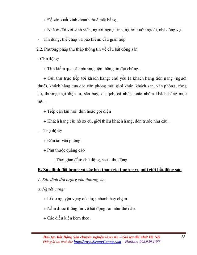 33Đào tạo Bất Động Sản chuyên nghiệp và uy tín – Giá ưu đãi nhất Hà Nội Đăng kí tại website http://www.StrongCuong.com – H...