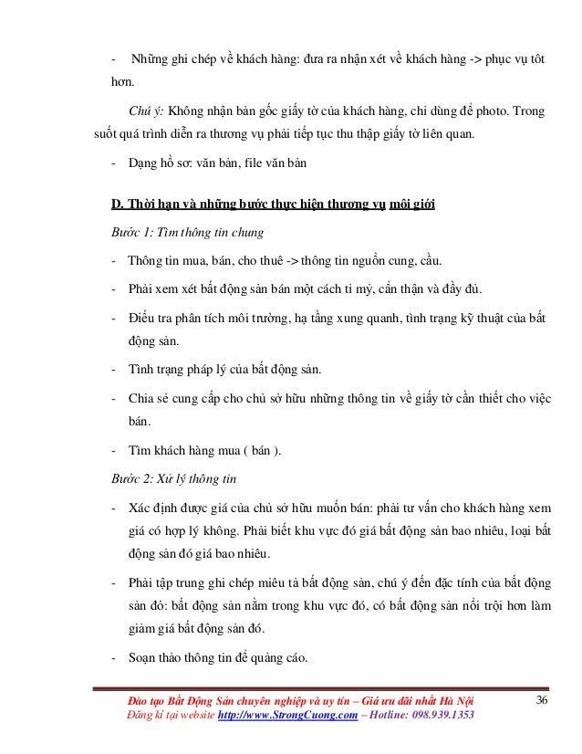 36Đào tạo Bất Động Sản chuyên nghiệp và uy tín – Giá ưu đãi nhất Hà Nội Đăng kí tại website http://www.StrongCuong.com – H...