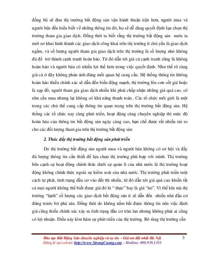 3Đào tạo Bất Động Sản chuyên nghiệp và uy tín – Giá ưu đãi nhất Hà Nội Đăng kí tại website http://www.StrongCuong.com – Ho...