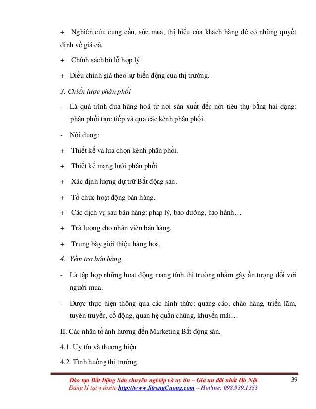 39Đào tạo Bất Động Sản chuyên nghiệp và uy tín – Giá ưu đãi nhất Hà Nội Đăng kí tại website http://www.StrongCuong.com – H...