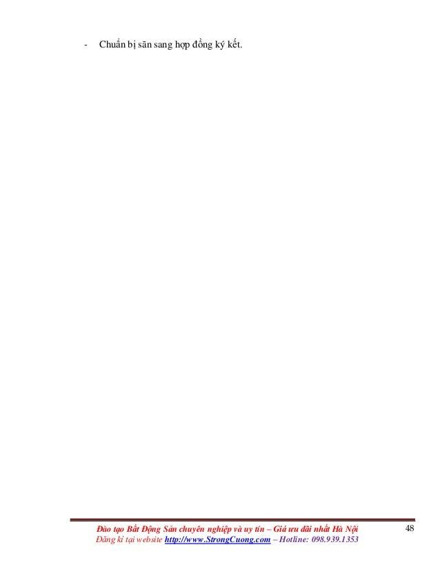 48Đào tạo Bất Động Sản chuyên nghiệp và uy tín – Giá ưu đãi nhất Hà Nội Đăng kí tại website http://www.StrongCuong.com – H...