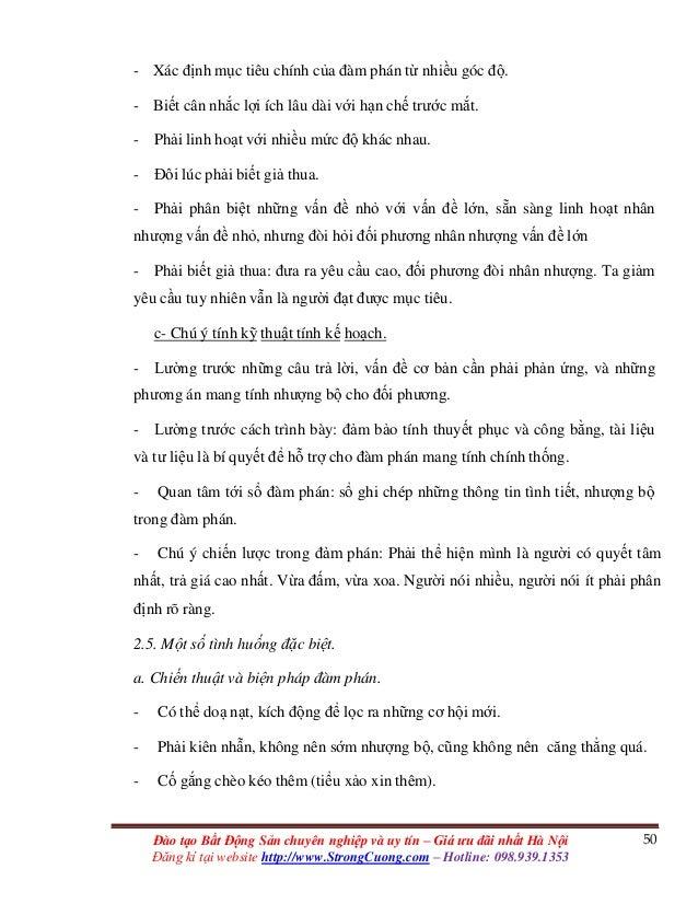 50Đào tạo Bất Động Sản chuyên nghiệp và uy tín – Giá ưu đãi nhất Hà Nội Đăng kí tại website http://www.StrongCuong.com – H...
