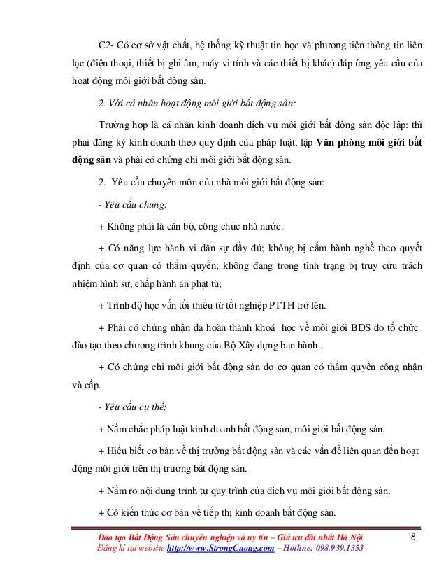 8Đào tạo Bất Động Sản chuyên nghiệp và uy tín – Giá ưu đãi nhất Hà Nội Đăng kí tại website http://www.StrongCuong.com – Ho...