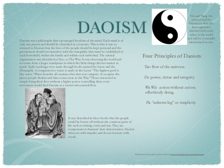 taoism essays Taoism research papers free essays on taoism discuss the study of lao tzu and chuang tzu and it incorporates religion, aesthetics, and etc allows college and high school students to buy original.