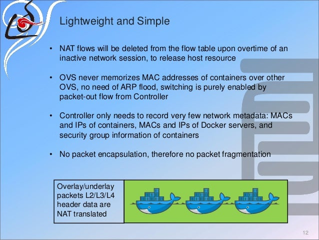 Lightweight and Simple • NAT flows will be deleted from the flow table upon overtime of an inactive network session, to re...