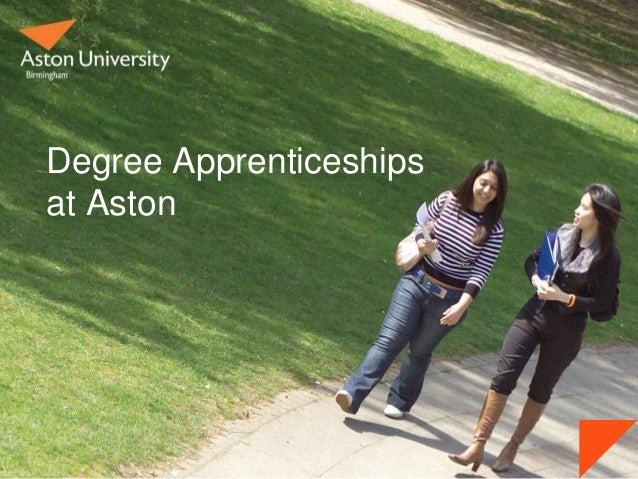 Degree Apprenticeships at Aston