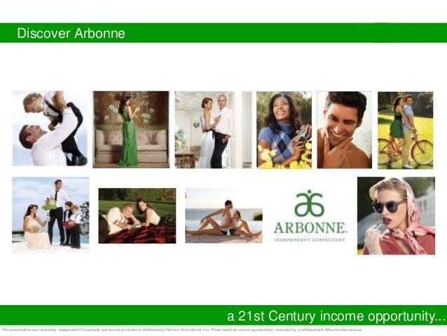 Arbonne business presentation slideshow