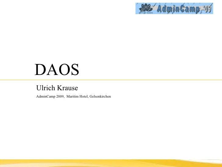 DAOS Ulrich Krause   AdminCamp 2009,  Maritim Hotel, Gelsenkirchen