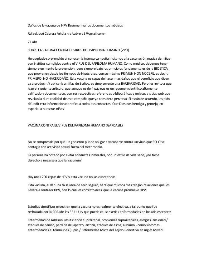 Daños de la vacuna de HPV Resumen varios documentos médicos Rafael José Cabrera Artola <rafcabrera3@gmail.com> 21 abr SOBR...