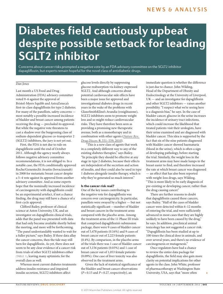 N E W S & A N A LY S I S  Diabetes field cautiously upbeat  despite possible setback for leading  SGLT2 inhibitor  Concern...