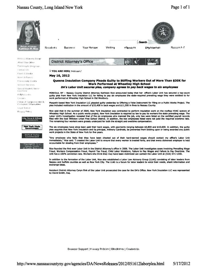 DA press release