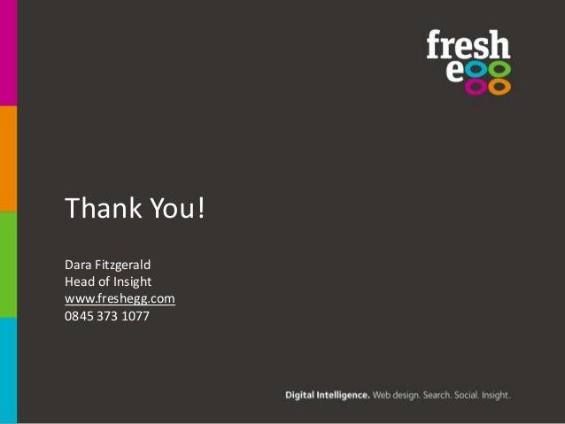 Thank You!Dara FitzgeraldHead of Insightwww.freshegg.com0845 373 1077