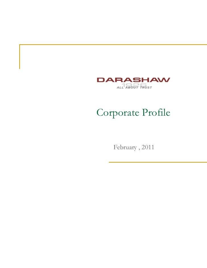 Corporate Profile   February , 2011