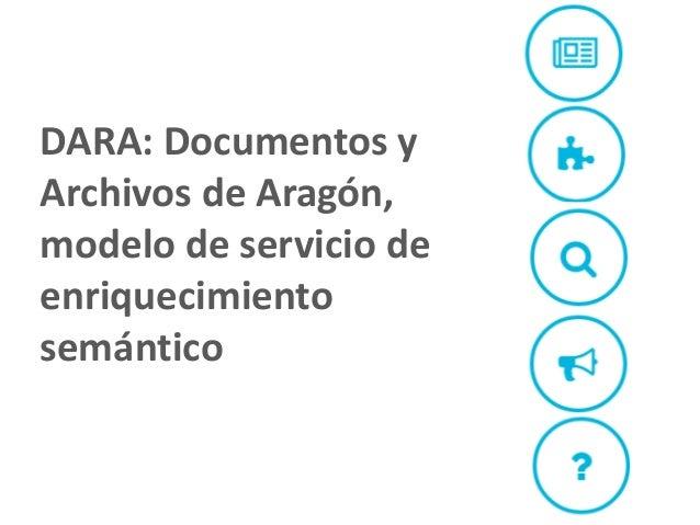 DARA: Documentos y Archivos de Aragón, modelo de servicio de enriquecimiento semántico