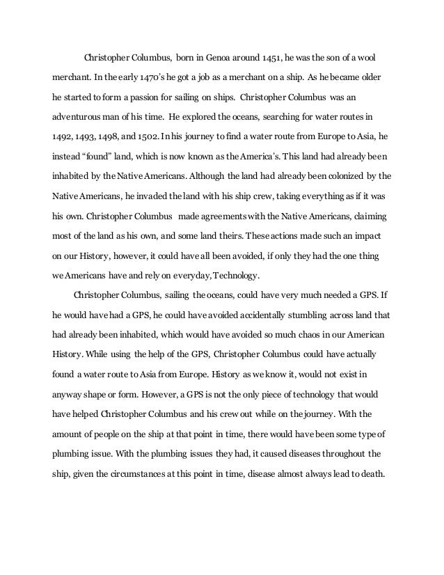 Dar Columbus Essay Hayden Cerett Christopher Columbus Born In Genoa Around  He Was The Son Of A Wool   How To Write An Essay Proposal Example also How Can A Business Plan Help An Entrepreneur  How To Write A College Essay Paper