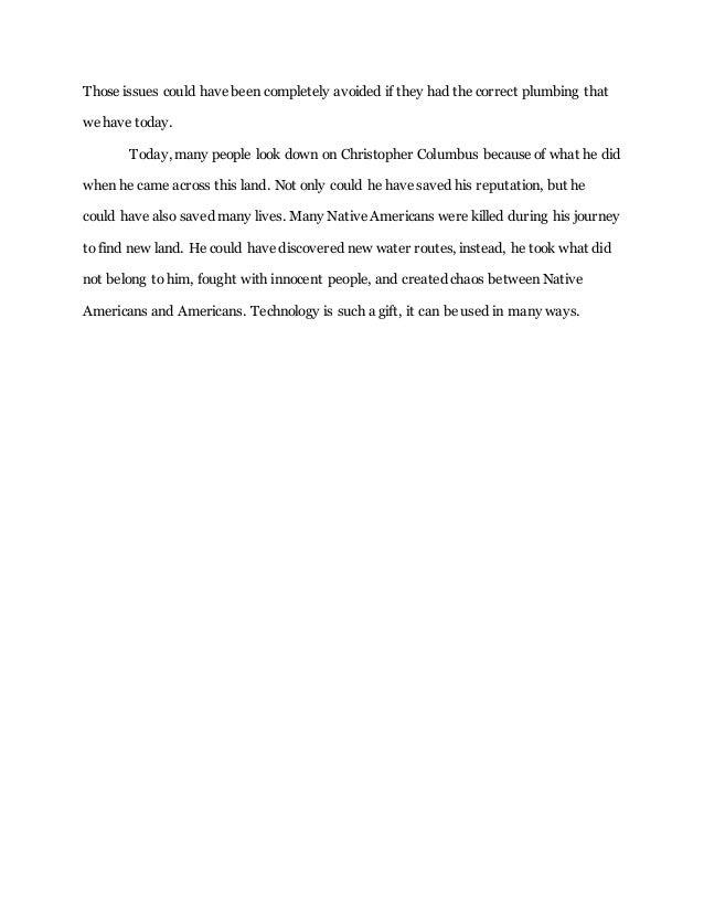 Dar Columbus Essay Hayden Cerett  English Essay Com also English Essay Speech  Essay Thesis Statement