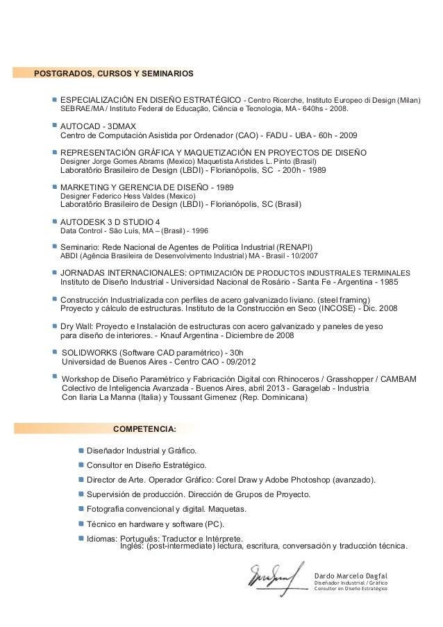 Dardo marcelo dagfal curriculum 2013 pdf for Curso de diseno de interiores pdf