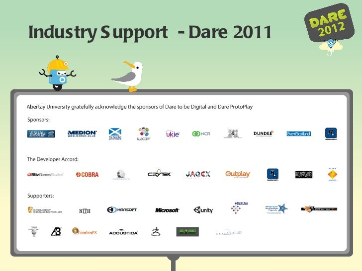 Industry Support  - Dare 2011
