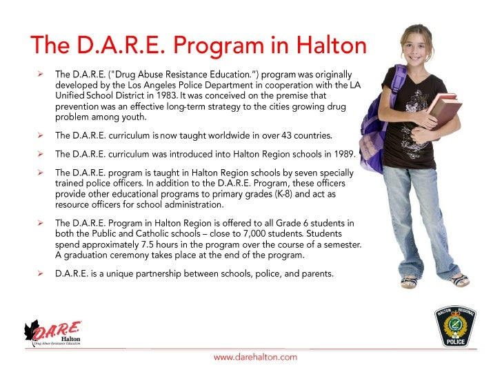 drug abuse resistance education and post Drug abuse resistance education (dare) was developed in 1983 through the  cooperative efforts of the los angeles police department and the los angeles.