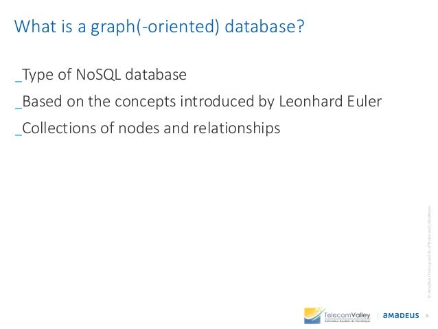 _Type of NoSQL database _Based on the concepts introduced by Leonhard Euler _Collections of nodes and relationships 6 ©Ama...