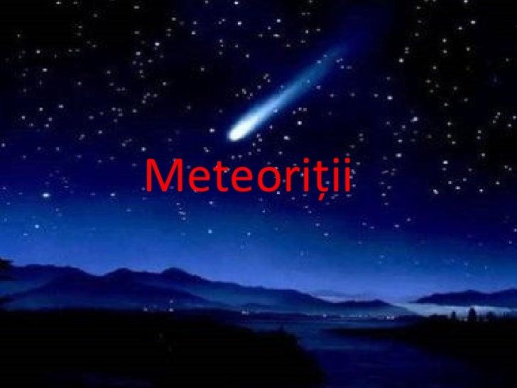 Meteoriţii