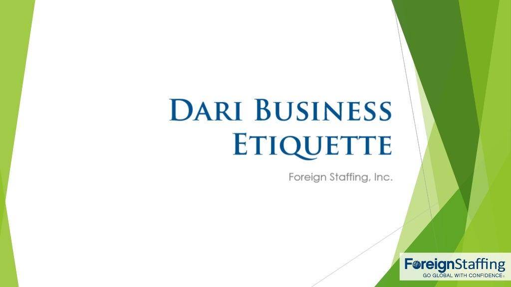 Dari Business Etiquette