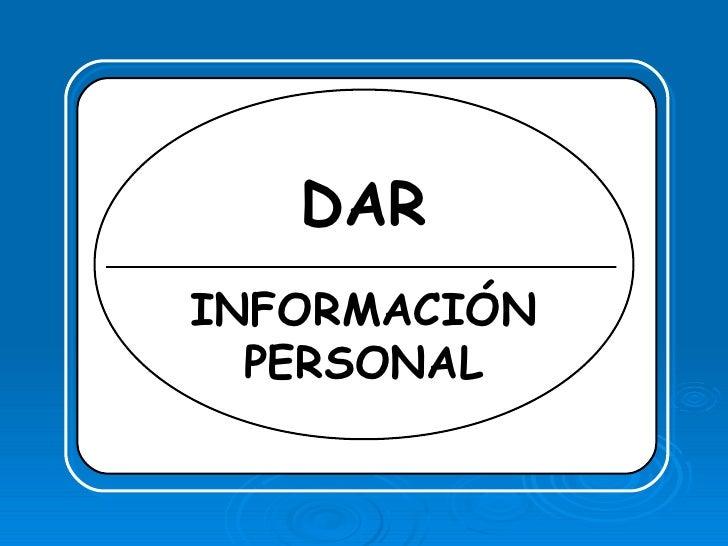 Dar InformacióN Personal