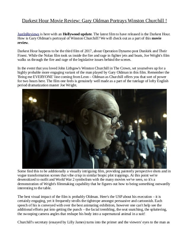Darkest hour movie review: gary oldman portrays winston