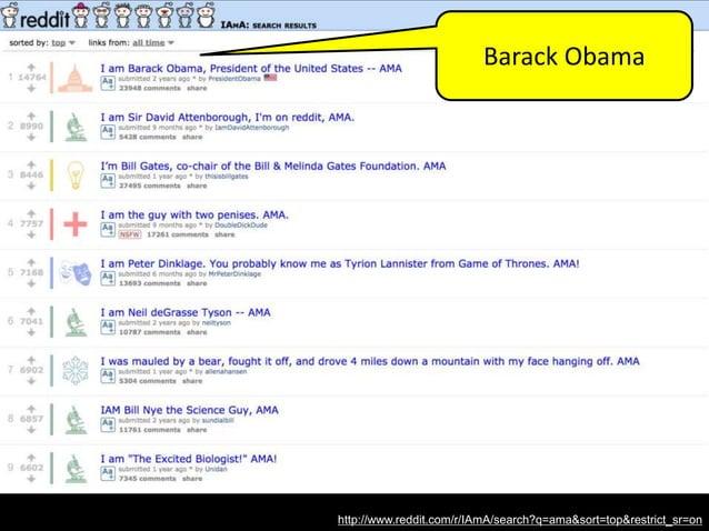 http://www.reddit.com/r/IAmA/search?q=ama&sort=top&restrict_sr=on Bill Gates