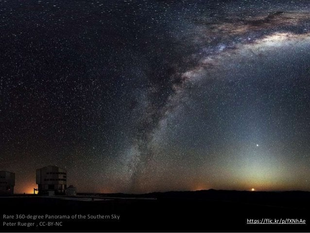 https://flic.kr/p/fXNhAe Rare 360-degree Panorama of the Southern Sky Peter Rueger , CC-BY-NC