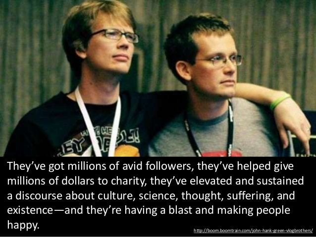 http://boom.boomtrain.com/john-hank-green-vlogbrothers/ They've got millions of avid followers, they've helped give millio...