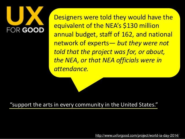 """http://www.uxforgood.com/project/world-ia-day-2014/ In a similar vein, the organization UX for Good held a """"design challen..."""